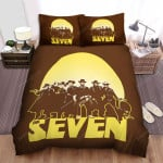 The Magnificent Seven (1960) Cowboy Group Movie Poster Bed Sheets Spread Comforter Duvet Cover Bedding Sets