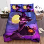 Halloween Bright Star On Witch Cheek Bed Sheets Spread Duvet Cover Bedding Sets