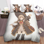 Halloween Junior Witch Wants To Say Hello Bed Sheets Spread Duvet Cover Bedding Sets
