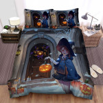 Halloween Witch The Trick Atmosphere Bed Sheets Spread Duvet Cover Bedding Sets