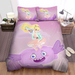 Star Vs. The Forces Of Evil Star Butterfly Flying On The Cloud Bed Sheets Spread Duvet Cover Bedding Sets