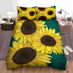 Sunflower Three Flowers Bed Sheets Spread Comforter Duvet Cover Bedding Sets