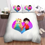 Star Vs. The Forces Of Evil Star And Macro In Love Bed Sheets Spread Duvet Cover Bedding Sets