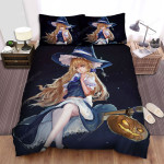 Halloween Witch Vintage Art Of The Blonde Magician Girl Bed Sheets Spread Duvet Cover Bedding Sets