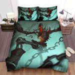 Halloween Chained Skeleton Artwork Bed Sheets Spread Duvet Cover Bedding Sets
