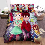 Star Vs. The Forces Of Evil Star And Macro Among People Bed Sheets Spread Duvet Cover Bedding Sets