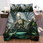 Halloween Skeletons Reborn Artwork Bed Sheets Spread Duvet Cover Bedding Sets