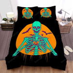 Halloween Night Skeleton Bed Sheets Spread Duvet Cover Bedding Sets