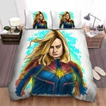 What If...? Captain Marvel Bed Sheets Spread Duvet Cover Bedding Sets