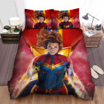 What If...? Captain Widow Bed Sheets Spread Duvet Cover Bedding Sets