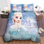 Disney Frozen Elsa Creating Snowflake With Her Power Quilt Bedding Set