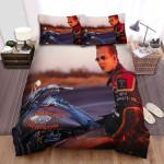 Harley Davidson And The Marlboro Man Moto Bed Sheets Spread Comforter Duvet Cover Bedding Sets