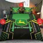 Personalized Custom Name John Deere Tractor Bed Sheets Bedspread Duvet Cover Bedding Set
