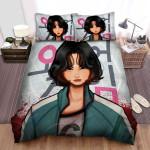 Squid Game (2021) Movie 067 Fanart Bed Sheets Spread Comforter Duvet Cover Bedding Sets