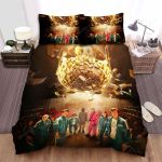Squid Game (2021) Movie Poster Bed Sheets Spread Comforter Duvet Cover Bedding Sets