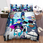 Glitch Techs The Whole Crew Bed Sheets Spread Duvet Cover Bedding Sets