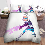 Glitch Techs Zahra With The Glitch Sword Bed Sheets Spread Duvet Cover Bedding Sets
