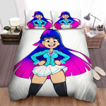 Glitch Techs Miko Solo Image Bed Sheets Spread Duvet Cover Bedding Sets