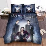 The Vampire Diaries (2009–2017) Cool Tones Movie Poster Bed Sheets Spread Comforter Duvet Cover Bedding Sets