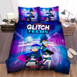 Glitch Techs Miko, Five And Bitt Bed Sheets Spread Duvet Cover Bedding Sets