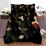 The Vampire Diaries (2009–2017) Lying On The Flower Movie Poster Bed Sheets Spread Comforter Duvet Cover Bedding Sets