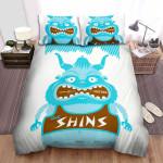 The Shins Band Blue Monster Art Bed Sheets Spread Comforter Duvet Cover Bedding Sets