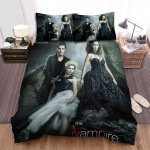 The Vampire Diaries (2009–2017) An Unlikely Threesome Movie Poster Bed Sheets Spread Comforter Duvet Cover Bedding Sets