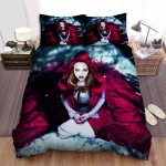 Red Riding Hood Snow Blood Bed Sheets Spread Comforter Duvet Cover Bedding Sets