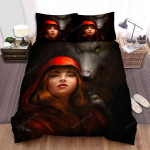 Red Riding Hood Wolf Art Bed Sheets Spread Comforter Duvet Cover Bedding Sets