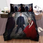 Red Riding Hood Love Triangle Bed Sheets Spread Comforter Duvet Cover Bedding Sets