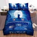 Krampus (I) With Moon Blue Bed Sheets Spread Comforter Duvet Cover Bedding Sets
