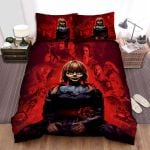 Annabelle Comes Home Movie Red Background Photo Bed Sheets Spread Comforter Duvet Cover Bedding Sets