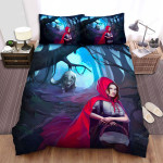 Red Riding Hood Forest Darkness Art Bed Sheets Spread Comforter Duvet Cover Bedding Sets