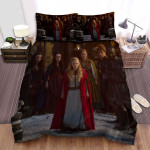 Red Riding Hood Crowded Bed Sheets Spread Comforter Duvet Cover Bedding Sets