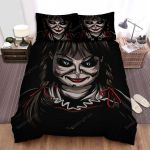 Annabelle Comes Home Smile Photo Movie Bed Sheets Spread Comforter Duvet Cover Bedding Sets