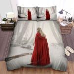 Red Riding Hood Back Bed Sheets Spread Comforter Duvet Cover Bedding Sets