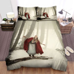 Red Riding Hood Snow In Forest Bed Sheets Spread Comforter Duvet Cover Bedding Sets