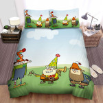 The 7d Group Posing Bed Sheets Spread Duvet Cover Bedding Sets