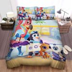 T.O.T.S. Group Posing Bed Sheets Spread Duvet Cover Bedding Sets
