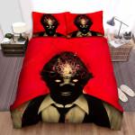 Scanners Red Background Bed Sheets Spread Comforter Duvet Cover Bedding Sets