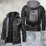 Skull Leather Jacket American Mechanic