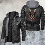 Samurai Devil Mask Leather Jacket