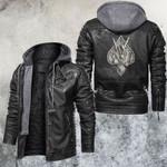 Skull Gambling Leather Jacket