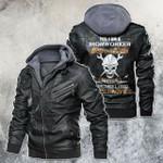 Yes, I'm A Ironworker Skull Motorcycle Leather Jacket