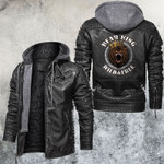 The Bear King Wild and Free Leather Jacket