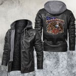 Rider With A Firefighter Spirit Leather Jacket