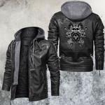 Tri-skull Evil Leather Jacket