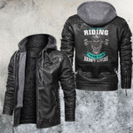 If You Aren't Riding Then You Aren't Living Leather Jacket
