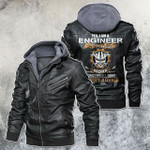 Yes, I'm An Engineer Skull Motorcycle Leather Jacket