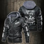 Personalized Name Hunting And Fishing Club Leather Jacket